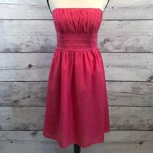 Lilly Pulitzer Pink Silk Blend Strapless Dress 6